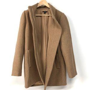 J Crew Mercantile Brown Wool Cocoon Coat